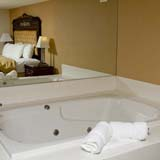 King suite with spa tub.